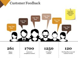 Customer Feedback Powerpoint Slide Design Ideas