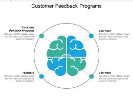 Customer Feedback Programs Ppt Powerpoint Presentation Icon Visuals Cpb
