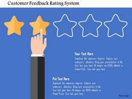 Customer Feedback Rating System Flat Powerpoint Design