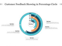 Customer Feedback Showing In Percentage Circle