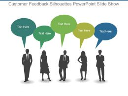 Customer Feedback Silhouettes Powerpoint Slide Show
