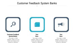 Customer Feedback System Banks Ppt Powerpoint Presentation Show Brochure Cpb