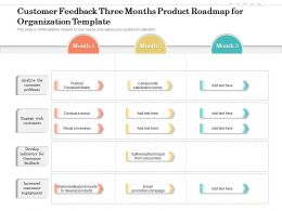 Customer Feedback Three Months Product Roadmap For Organization Template