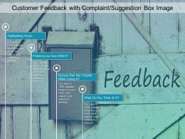 Customer Feedback With Complaint Suggestion Box Image