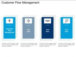Customer Flow Management Ppt Powerpoint Presentation Icon Design Inspiration Cpb