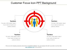 Customer Focus Icon Ppt Background