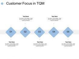 Customer Focus In Tqm 5 Stage Process Ppt Powerpoint Presentation Slides Guide