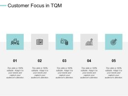 Customer Focus In Tqm Arrows Management Ppt Powerpoint Presentation Infographic Template