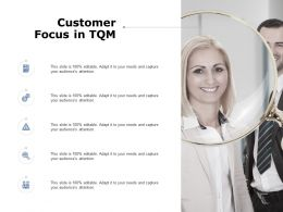 Customer Focus In Tqm Gears Ppt Powerpoint Presentation Pictures Themes