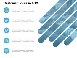 Customer Focus In Tqm Growth Technology Ppt Powerpoint Presentation Slides Template