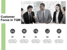 Customer Focus In TQM Management Ppt Powerpoint Presentation Icon Slides