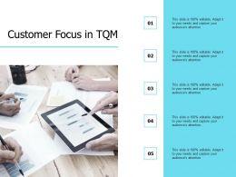 Customer Focus In TQM Planning Management Ppt Powerpoint Presentation Professional Slides