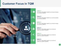 Customer Focus In Tqm Ppt Examples Slides