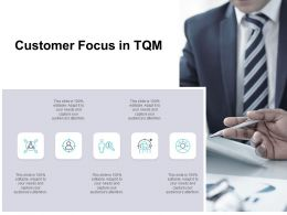 Customer Focus In TQM Ppt Powerpoint Presentation Infographics Microsoft