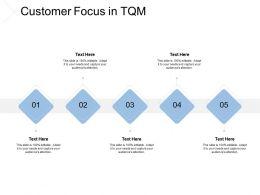 Customer Focus In TQM Process Management Ppt Powerpoint Presentation Show Information