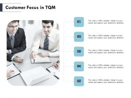 Customer Focus In TQM Teamwork Ppt Powerpoint Presentation Outline Vector