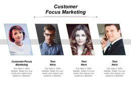 Customer Focus Marketing Ppt Powerpoint Presentation Gallery Slides Cpb
