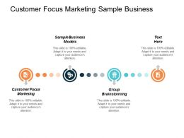Customer Focus Marketing Sample Business Models Group Brainstorming Cpb