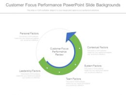 Customer Focus Performance Powerpoint Slide Backgrounds
