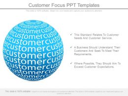 Customer Focus Ppt Templates