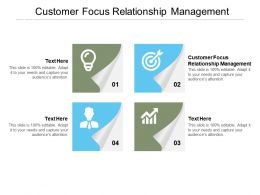 Customer Focus Relationship Management Ppt Powerpoint Presentation Gallery Cpb