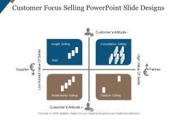 Customer Focus Selling Powerpoint Slide Designs