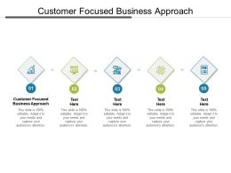 Customer Focused Business Approach Ppt Powerpoint Presentation Ideas Templates Cpb