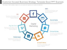 Customer Focused Business Strategy Template Good Ppt Example
