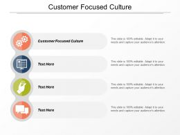 Customer Focused Culture Ppt Powerpoint Presentation Icon Elements Cpb