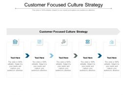 Customer Focused Culture Strategy Ppt Powerpoint Presentation Slides Introduction Cpb