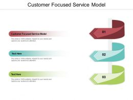 Customer Focused Service Model Ppt Powerpoint Presentation File Clipart Images Cpb