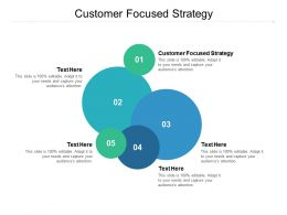 Customer Focused Strategy Ppt Powerpoint Presentation Pictures Microsoft Cpb