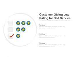 Customer Giving Low Rating For Bad Service