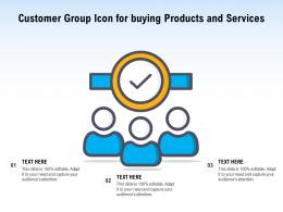 Customer Group Icon For Buying Products And Services