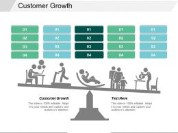 Customer Growth Ppt Powerpoint Presentation Icon Example Introduction Cpb