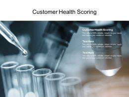 Customer Health Scoring Ppt Powerpoint Presentation Summary Good Cpb