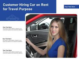 Customer Hiring Car On Rent For Travel Purpose