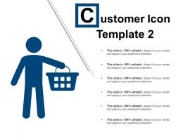 Customer Icon Template 2 Example Of Ppt