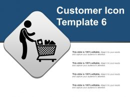 Customer Icon Template 6 Powerpoint Layout