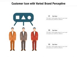Customer Icon With Varied Brand Perceptive