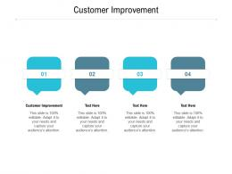 Customer Improvement Ppt Powerpoint Presentation Portfolio Graphics Design Cpb