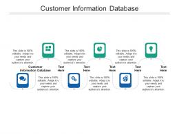 Customer Information Database Ppt Powerpoint Presentation Outline Format Cpb