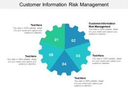 Customer Information Risk Management Ppt Powerpoint Presentation File Design Templates Cpb