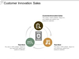 Customer Innovation Sales Ppt Powerpoint Presentation Pictures Introduction Cpb