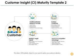 Customer Insight Ci Maturity Template 2 Ppt Inspiration Example File