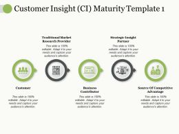 Customer Insight Ci Maturity Traditional Market Research Provider