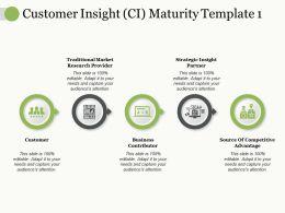 Customer Insight Ci Maturity Traditional Market Research Provider