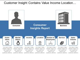 Customer Insight Contains Value Income Location And Number Of Employees
