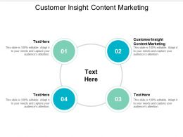 Customer Insight Content Marketing Ppt Powerpoint Presentation Styles Gridlines Cpb