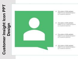 Customer Insight Icon Ppt Design